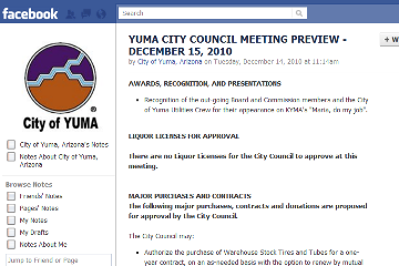 New Facebook Terms of Service - state and local government